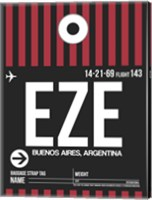 EZE Buenos Aires Luggage Tag II Fine Art Print