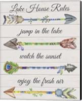 Sentimental Arrows-Lake House Rules Fine Art Print
