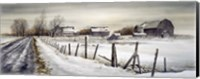 A Long Winter Road Fine Art Print