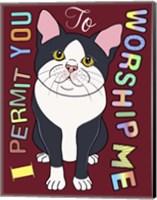 Tuxedo Cat Graphic Style Fine Art Print