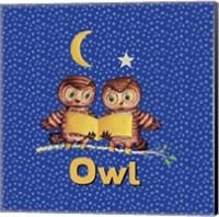 Cute Baby Owls Fine Art Print