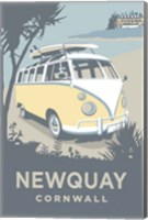 Newquay Camper Fine Art Print