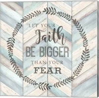 Let Your Faith Chevron Fine Art Print