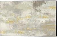 Blooming Day Golden Grey Fine Art Print