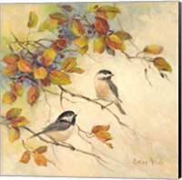 Birds of Autumn II Fine Art Print