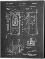 Chalkboard Wall Phone Patent Fine Art Print