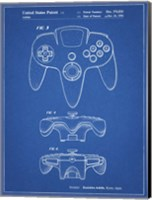 Blueprint Nintendo 64 Controller Patent Fine Art Print