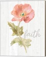 Garden Poppy on Wood Faith Fine Art Print