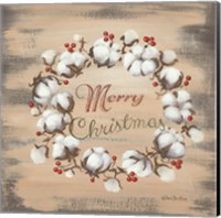 Cotton Wreath Holiday Fine Art Print
