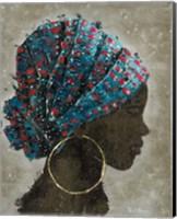 Profile of a Woman I (gold hoop) Fine Art Print
