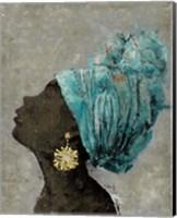 Profile of a Woman II (gold earring) Fine Art Print