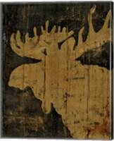 Rustic Lodge Animals Moose Fine Art Print
