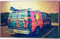 Beach Van at Sunset Fine Art Print