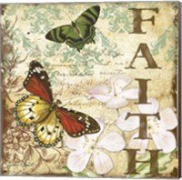 Inspirational Butterflies - Faith Fine Art Print