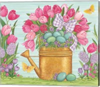 Tulips and Blue Eggs Fine Art Print