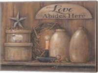 Love Abides Here Shelf Fine Art Print