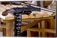 Six Shooter With Gun Belt Payson Arizona Fine Art Print