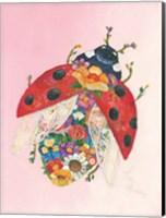 Botanical Ladybug Fine Art Print