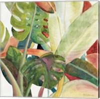 Tropical Lush Garden square I Fine Art Print