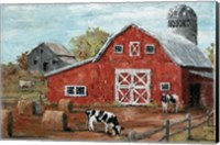 Red Country Barn Fine Art Print