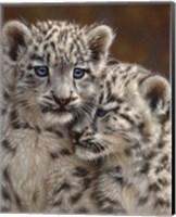 Snow Leopard Cubs - Playmates Fine Art Print