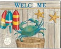 Blue Crab & Basket Fine Art Print