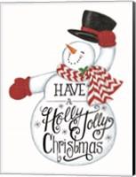 Have a Holly Jolly Christmas Snowman Fine Art Print