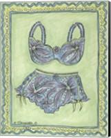 Lingerie Blue Bra Panties Fine Art Print