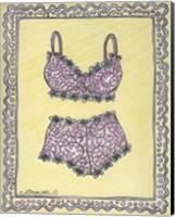 Lingerie Pink Bra Panties Fine Art Print