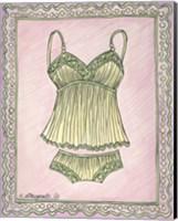 Lingerie Yellow Cami Set Fine Art Print