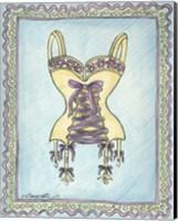 Lingerie Yellow Merry Widow Fine Art Print