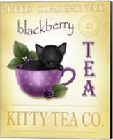 Blackberry Tea Cat Fine Art Print