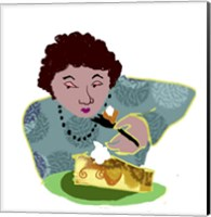 Lady With Cheesecake Fine Art Print