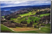 Aerial View of the Hills Near Zurich Fine Art Print
