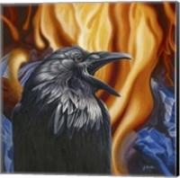 Raven Fire Fine Art Print