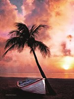 Palm Tree Sunset Fine Art Print