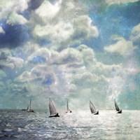 Sailing White Waters Fine Art Print