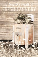 I Love the Smell of Fresh Laundry Fine Art Print