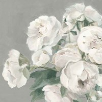 Peonies on Gray Fine Art Print