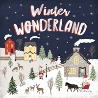 Christmas Village III Fine Art Print