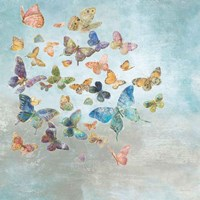 Beautiful Butterflies v3 Square Fine Art Print