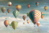 Hot Air Balloons with Pink Crop Fine Art Print