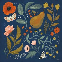 Blue Botanical II Fine Art Print