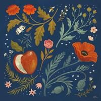 Blue Botanical III Fine Art Print