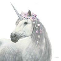 Spirit Unicorn II Sq Enchanted Fine Art Print