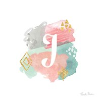 Abstract Monogram J Fine Art Print