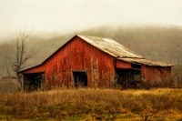 Skylight Barn in the Fog Fine Art Print