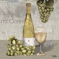 Uncork Wine and Grapes II Fine Art Print
