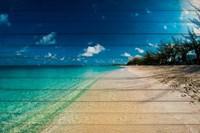 Cayman Islands Beach on Wood Fine Art Print