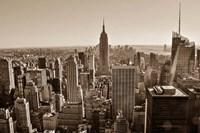 New York Sepia View Fine Art Print